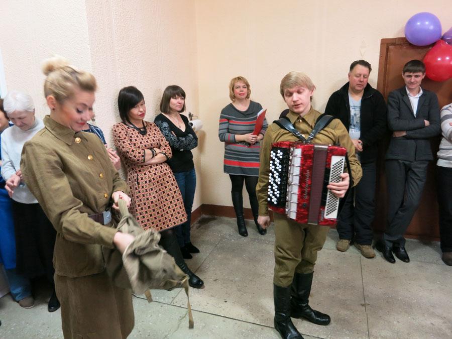 Музыкальное поздравление мужчин Белтепломашстрой с Днём защитника отечества