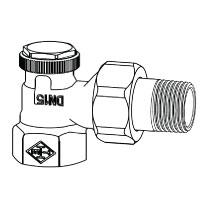 Радиаторный запорно-регулирующий клапан тип Regutec. Угловая модель