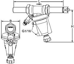 Автоматические регуляторы перепада давления тип STAP (DN 15-50). Гладкие патрубки
