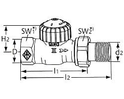 Термостатический клапан тип V-exact II. Проходная модель
