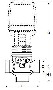Технические характеристики клапанов регулирующих CV316 MZ