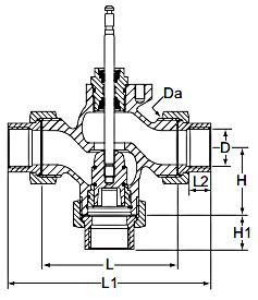 Технические характеристики клапанов регулирующих CV316 RGA